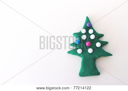 Chrismas Tree From Plasticine