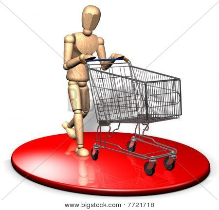 Shopping with trolley
