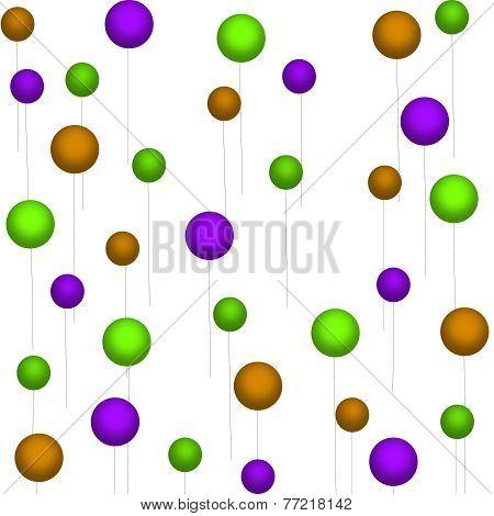 Purple-Green-Tan Balloons on White