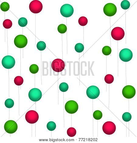 Red-Green-Teal Balloons on White
