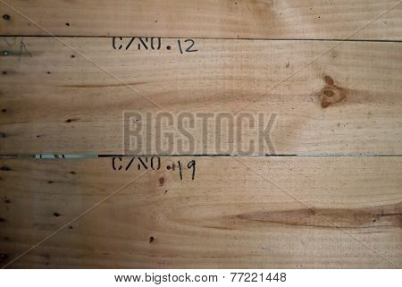 Wood Plank Brown Texture Background With Number Twelve And Number Nineteen