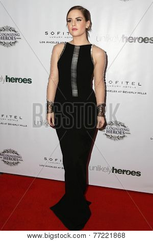 LOS ANGELES - NOV 8:  Joanna Levesque at the 3rd Annual Unlikely Heroes Awards Dinner And Gala at the Sofitel Hotel on November 8, 2014 in Beverly Hills, CA