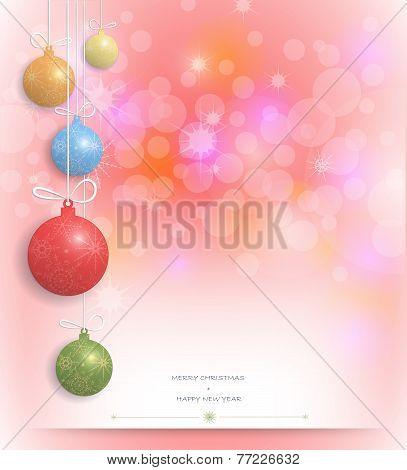 Merry Christmas Card Design-christmas Greeting Card