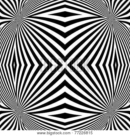 Design Monochrome Convex Lines Background