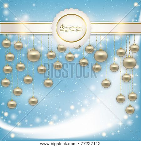 Vector Abstract Background With Christmas Balls