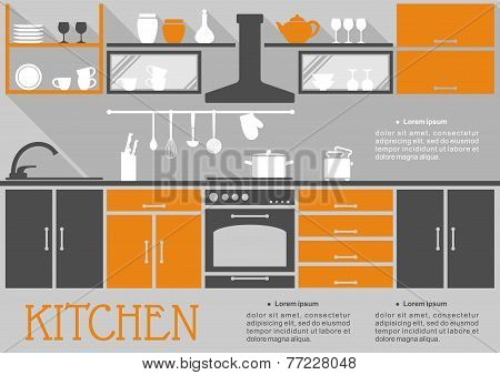 Flat kitchen interior design