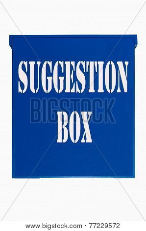 Blue Wooden Box, Suggestion Box,ballot Box,