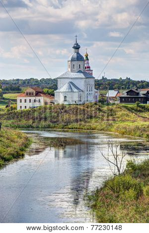 Suzdal. View Of The Church Of Elijah The Prophet. Russia