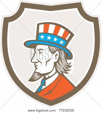 Uncle Sam American Side Shield Crest