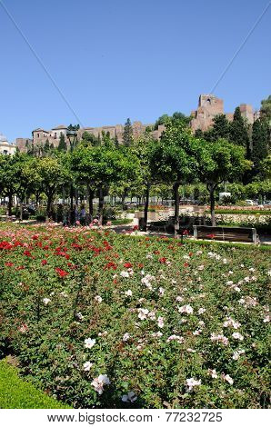 Castle and gardens, Malaga.
