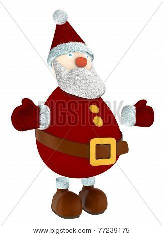 standing 3D Santa Claus isolated on white