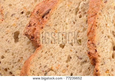 Close Up Sliced Loaf Of Bread