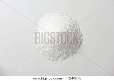 heap of pure sea salt