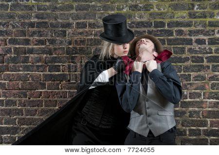 Lady Ripper Strangling Man