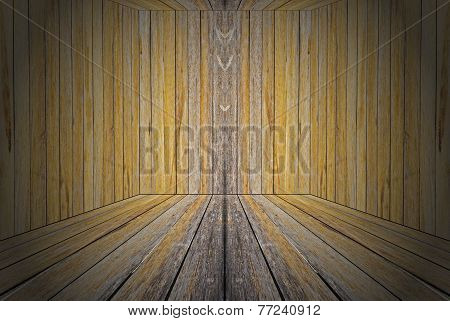 Wall of room decorate by wooden