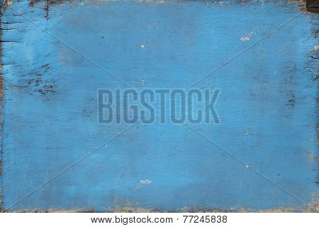 Old Blue Paint Weathered No Frame Wood Board