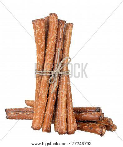 A Bunch Pretzel Rods