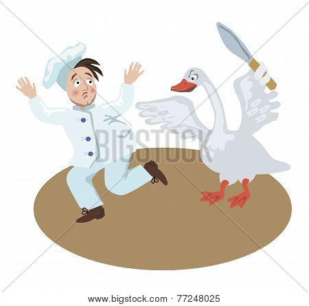 Christmas Goose Chases Chef