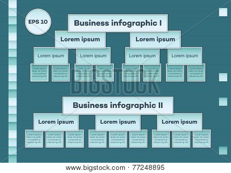 Blue Business Infographic Charts