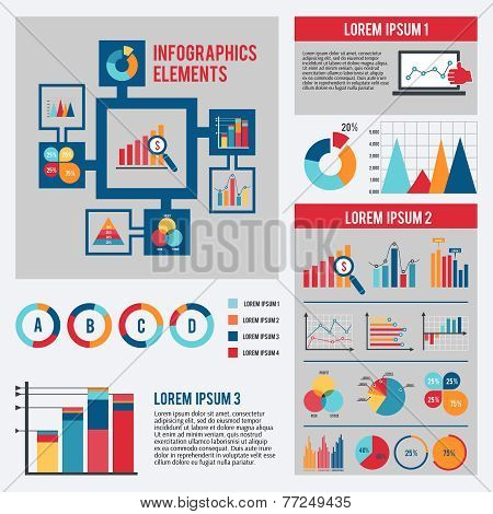 Business chart infographics set
