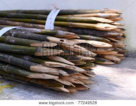 Picket Bamboo Fence