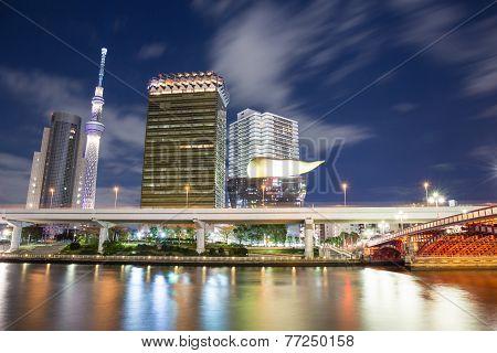 Tokyo, Japan Skyline Night