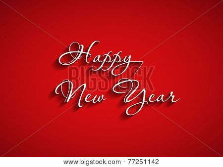Beautiful elegant text design of happy new year, easy editable