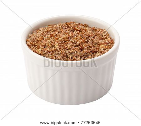 Flax Seed Meal In Ramekin
