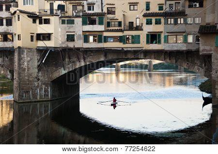 Ponte Vecchio Over The River Arno, Florence