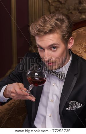 Handsome man with cigar