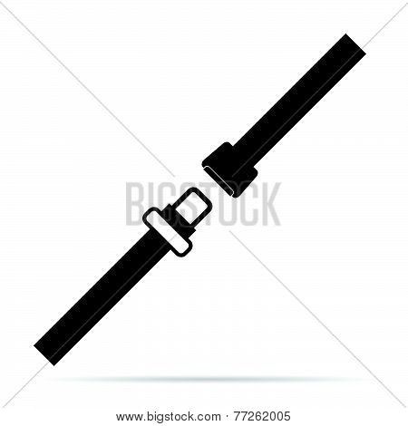 Seat Belt Black And White Vector