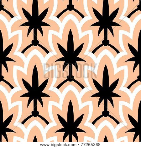 Hand drawn art deco pattern