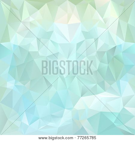 Vector Polygonal Background With Irregular Tessellations Pattern In Blue Colors