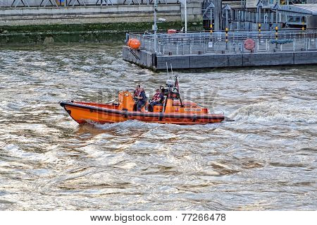 London Life Rescue boat