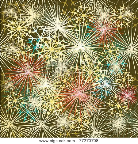 New Year Colorful Fireworks Vector