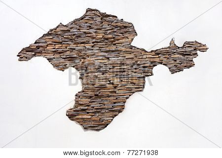 Background Of Stone Wall Natural Stone Applique Outline Resort Peninsula Of Crimea