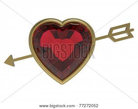 arrow heart, love concept