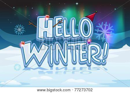 A winter design for christmas