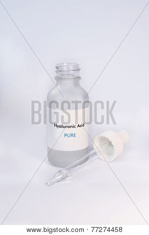 Hyaluronic Acid in bottle Cosmetics Skin