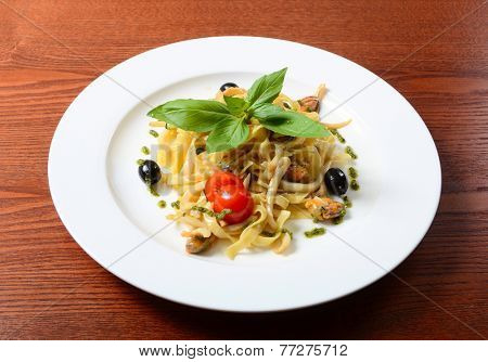 Paste Fettuccine with seafood