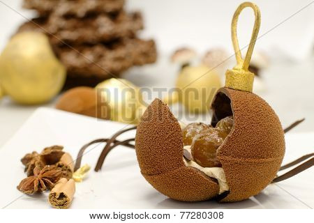Chocolate Christmas Bauble With Delicious Stuffing