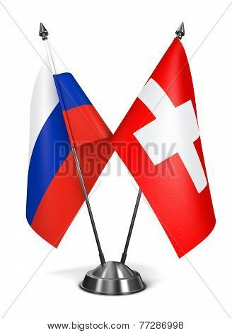 Switzerland and Russia - Miniature Flags.
