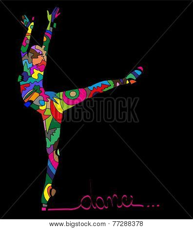 abstract Silhouettes of dancer