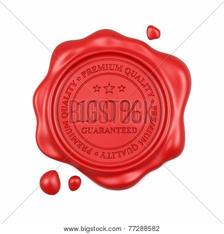 Red Wax Seal 100 Percent Premium Quality Stamp Isolated