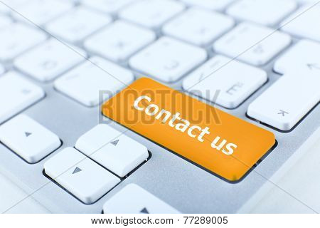 Close up of Contact us keyboard button