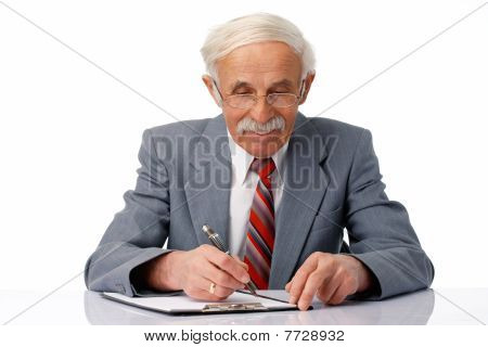 Businessman Writing.