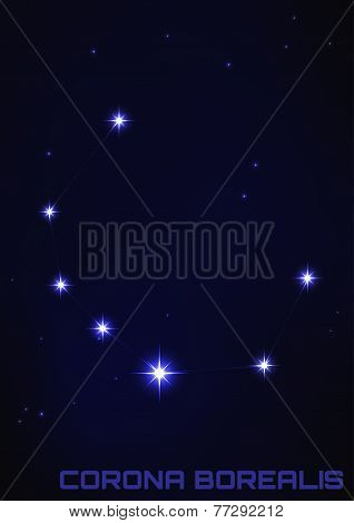 illustration of Corona Borealis constellation