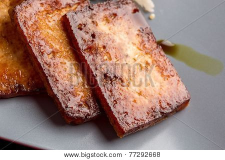Closeup Of Backed Marinated Tofu