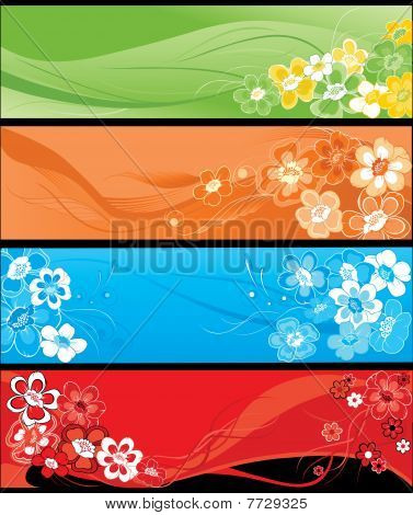 Summer Flowers Vertical Banners.eps