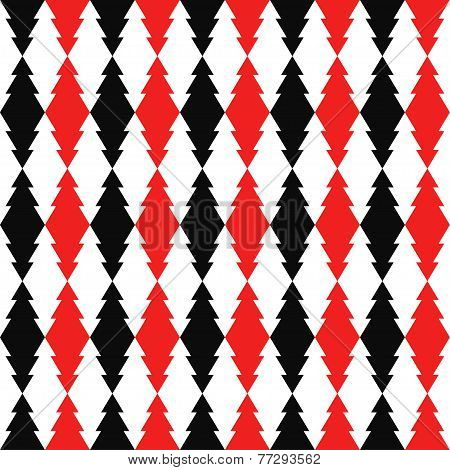 bright red, black and white colored abstract geometric pattern background